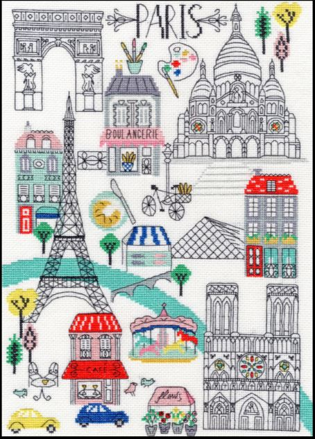 click here to view larger image of Love Paris (counted cross stitch kit)