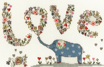 click here to view larger image of Love Elly (counted cross stitch kit)