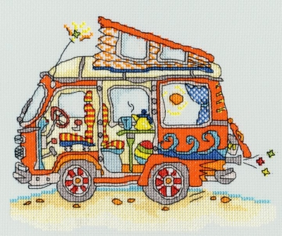 click here to view larger image of Sew Dinky VW Van (counted cross stitch kit)