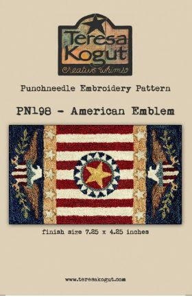 click here to view larger image of American Emblem (Punchneedle)