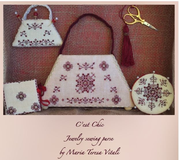 click here to view larger image of C'est Chic Jewelry Sewing Purse (chart)