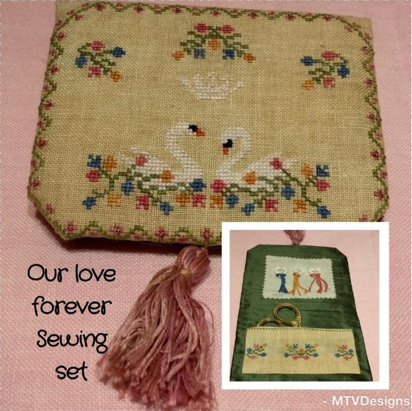 click here to view larger image of Our Love Forever Sewing Set (chart)