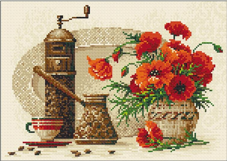 click here to view larger image of Coffee (Diamond Embroidery)