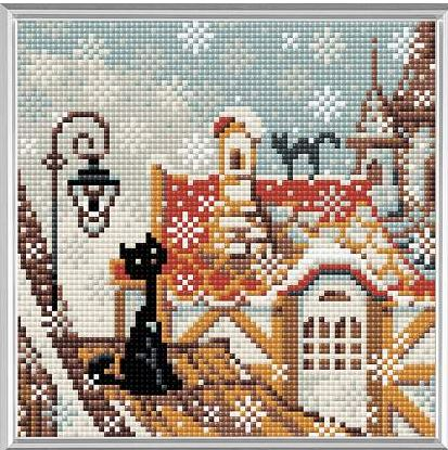 click here to view larger image of City & Cats Winter (Diamond Embroidery)