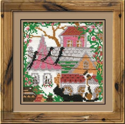 click here to view larger image of City & Cats Summer (counted cross stitch kit)