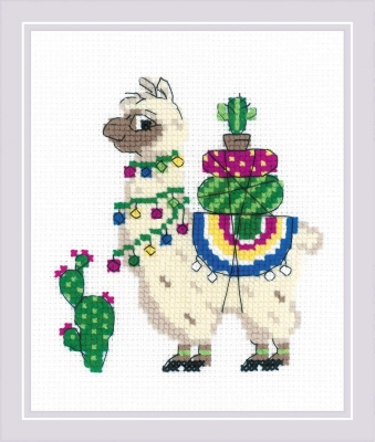 Llama - click here for more details about counted cross stitch kit