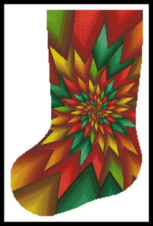 click here to view larger image of Christmas Fractal Stocking (left) (chart)