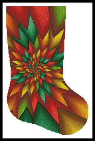 click here to view larger image of Christmas Fractal Stocking (right) (chart)