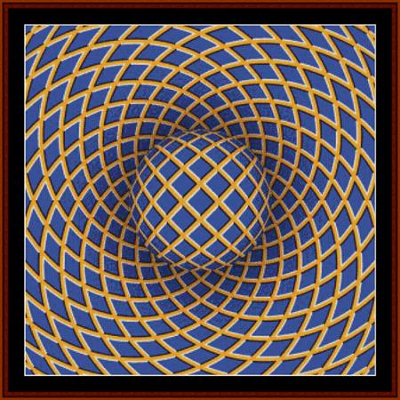 Optical Illusion 10 - Geometric - click here for more details about chart