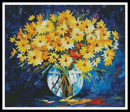 click here to view larger image of Yellow on Blue  (Leonid Afremov) (chart)