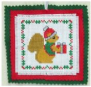 click here to view larger image of Christmas Squirrel Ornament  (chart)
