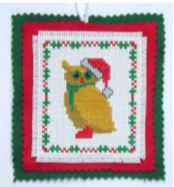 click here to view larger image of Christmas Owl Ornament (chart)