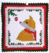 click here to view larger image of Christmas Fox Ornament (chart)