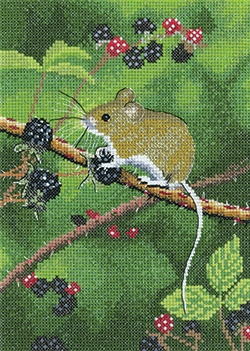 click here to view larger image of Wood Mouse (counted cross stitch kit)