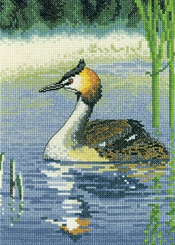 click here to view larger image of Grebe (counted cross stitch kit)