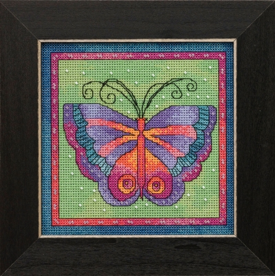 click here to view larger image of Butterfly Lime (counted cross stitch kit)