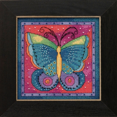 click here to view larger image of Butterfly Fusia (counted cross stitch kit)