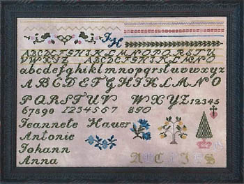 click here to view larger image of Jeannete Hauer Sampler (chart)