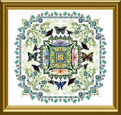 click here to view larger image of Butterfly Lace Mandala  (chart)