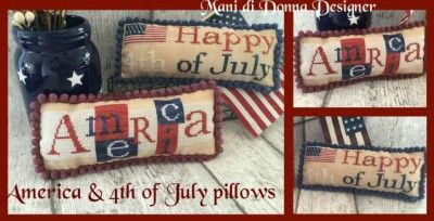 click here to view larger image of America & 4th of July Pillows  (chart)