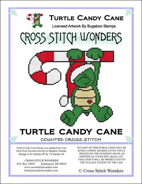 click here to view larger image of Turtle Candy Cane (chart)
