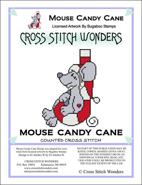 click here to view larger image of Mouse Candy Cane (chart)