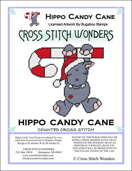 click here to view larger image of Hippo Candy Cane (chart)