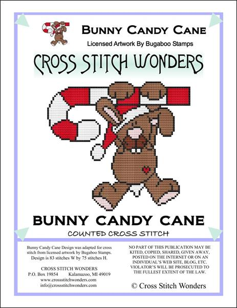 click here to view larger image of Bunny Candy Cane (chart)