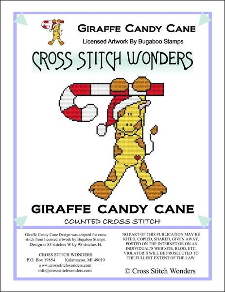 click here to view larger image of Giraffe Candy Cane (chart)