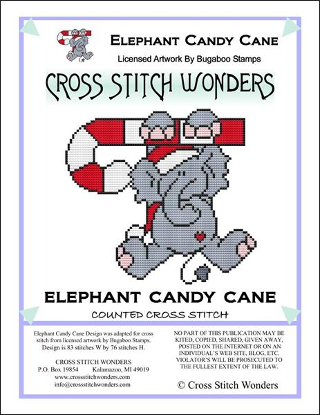 click here to view larger image of Elephant Candy Cane (chart)