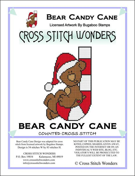 click here to view larger image of Bear Candy Cane (chart)