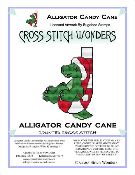 click here to view larger image of Alligator Candy Cane (chart)