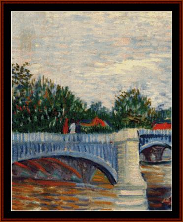 click here to view larger image of Bridge at Courbevoie - Van Gogh (chart)