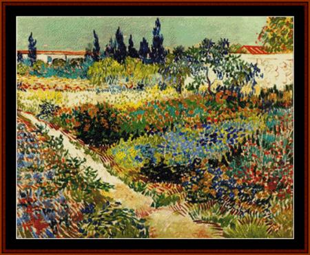 click here to view larger image of Flowering Garden in Summer - Van Gogh (chart)