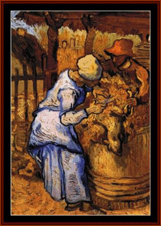 click here to view larger image of Sheep Shearers - Van Gogh (chart)