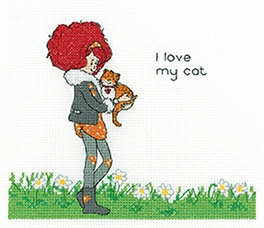 click here to view larger image of My Cat - Lavender Lister  (counted cross stitch kit)