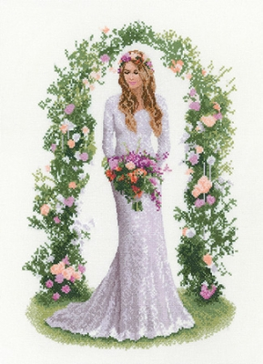click here to view larger image of Laura- Elegance Collection (counted cross stitch kit)