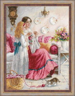 click here to view larger image of Stitching Lessons (counted cross stitch kit)