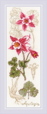 click here to view larger image of Aquilegia (counted cross stitch kit)