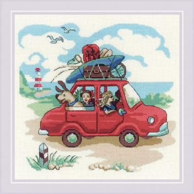 click here to view larger image of Day Trip, The (counted cross stitch kit)