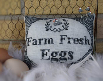 click here to view larger image of Farm Fresh Eggs (w/button) (chart)