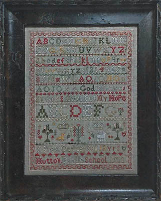 click here to view larger image of Agnes Outterson Sampler (chart)
