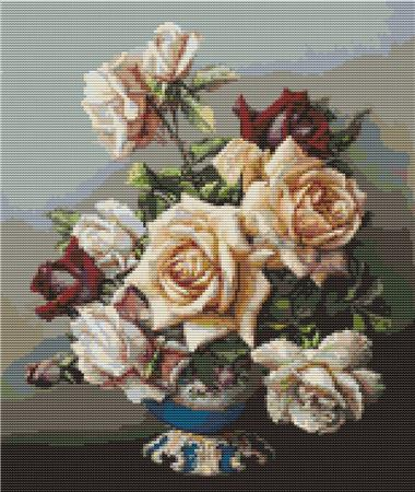 click here to view larger image of Vase of Roses (chart)