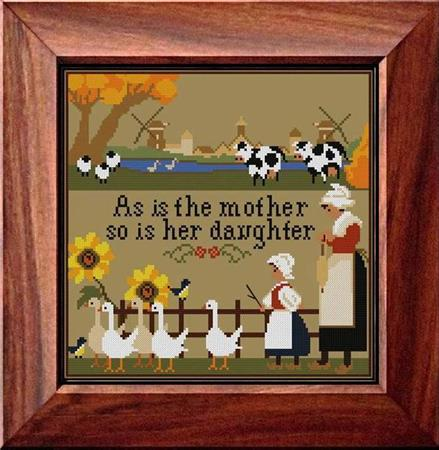 click here to view larger image of Mothers and Daughters Sampler (chart)