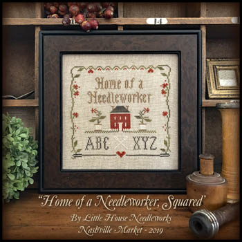 click here to view larger image of Home Of A Needleworker Squared - Kit (counted cross stitch kit)