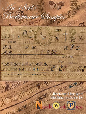 click here to view larger image of 1840 Biedermeier Sampler (chart)
