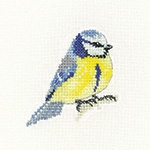 click here to view larger image of Blue Tit - Little Friend  (counted cross stitch kit)