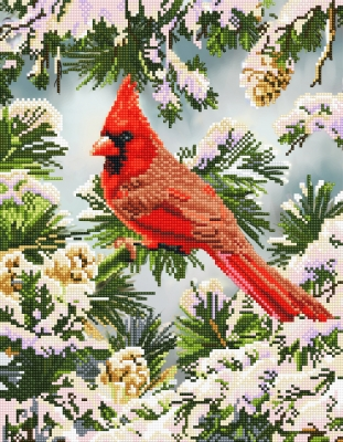 click here to view larger image of Good Fortune Cardinal (Diamond Embroidery)
