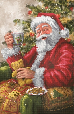 click here to view larger image of Santa's Cuppa (Diamond Embroidery)