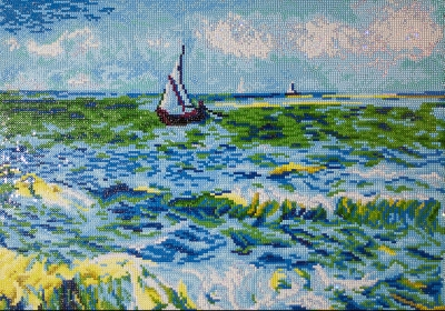click here to view larger image of Seascape at Saint Maries (Diamond Embroidery)